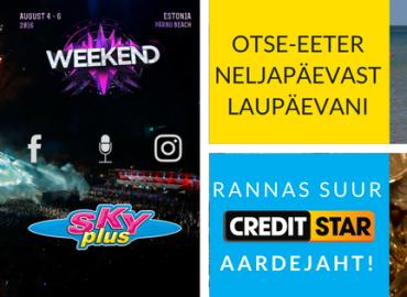 Охота за сокровищами Creditstar на фестивале Weekend